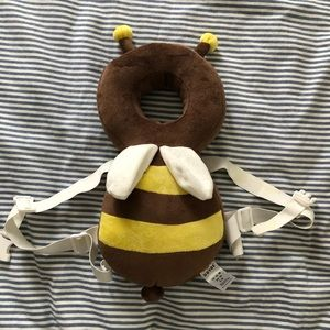 Bumbler bee head protector for baby